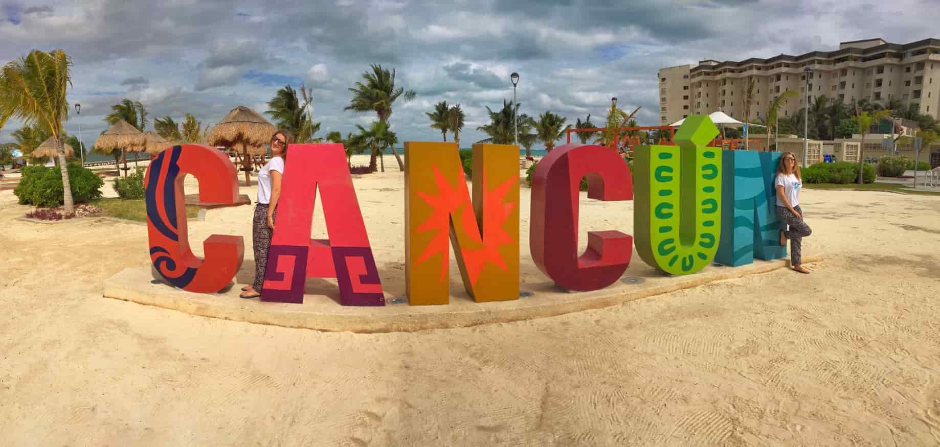 que ver en Cancún - Letrero de Cancún